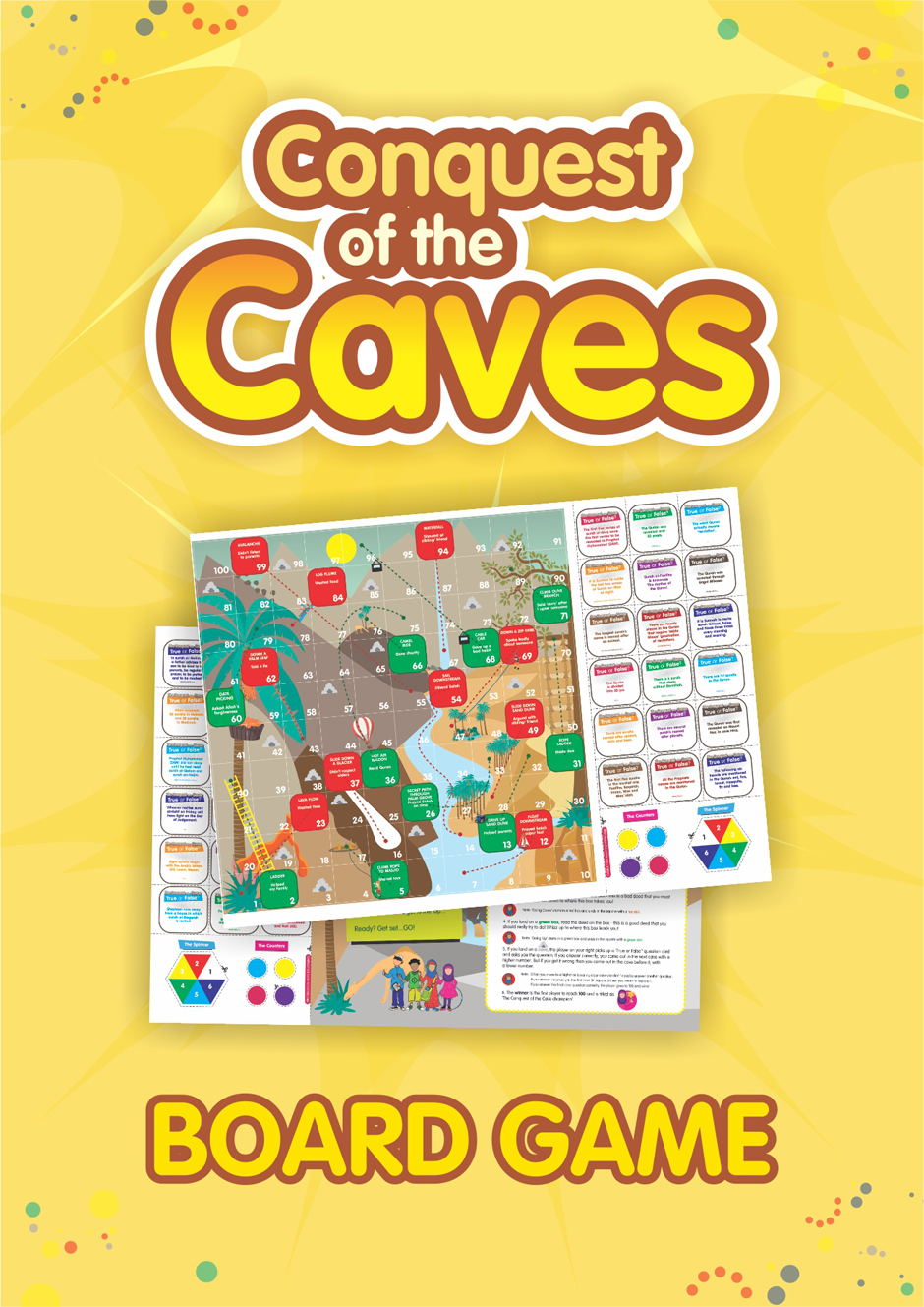 the conquest of the caves � board game little explorers